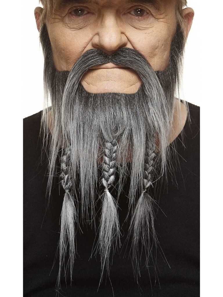Mustaches Self Adhesive Braided Novelty Captain Fake Beard and Fake Mustache