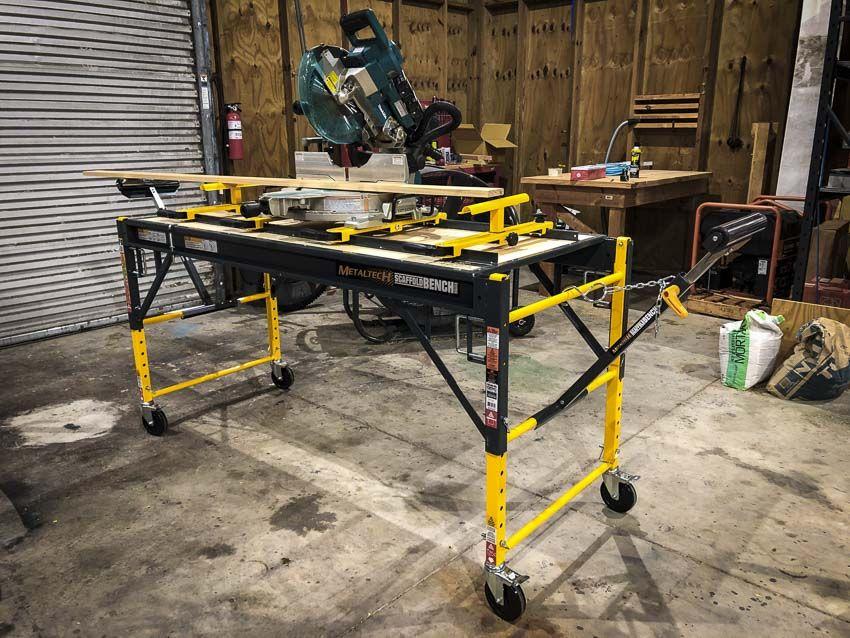Scaffold Job Desk Utility Cart Scaffolding Rolling Rack Pro Series 3-in-1 6 ft