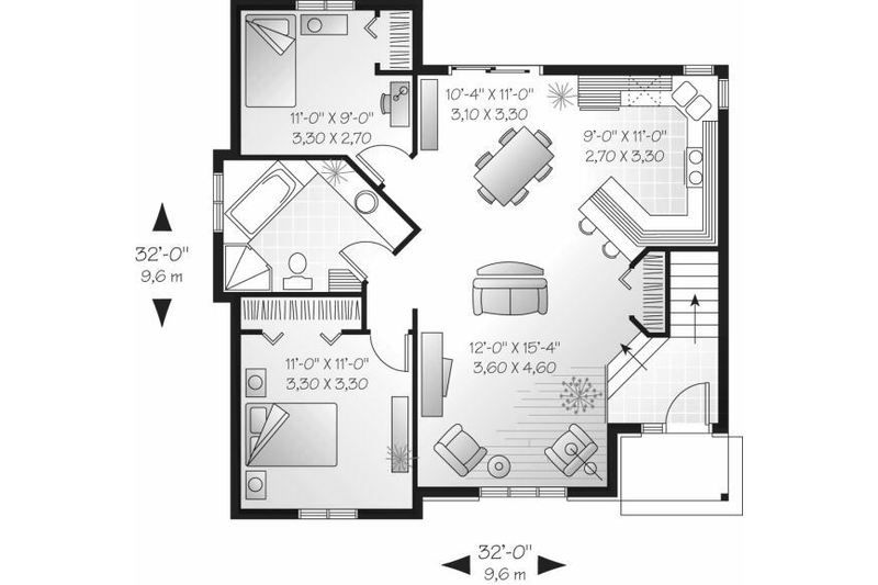 Cottage Style House Plan - 2 Beds 100 Baths 940 Sq Ft Plan #23-706 - fresh blueprint maker website