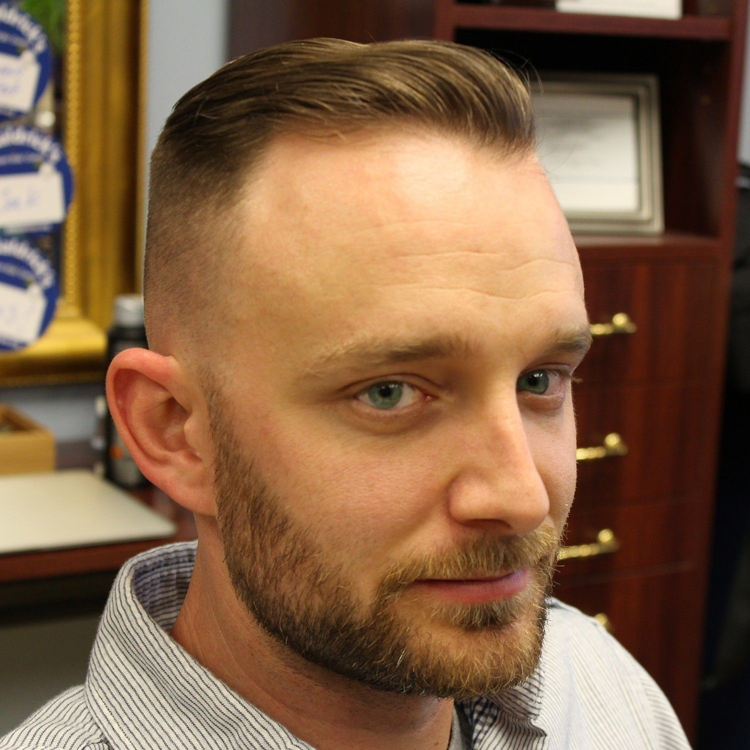 Haircut for thin hair men hairstyle for m shaped baldness  best hair style men  pinterest
