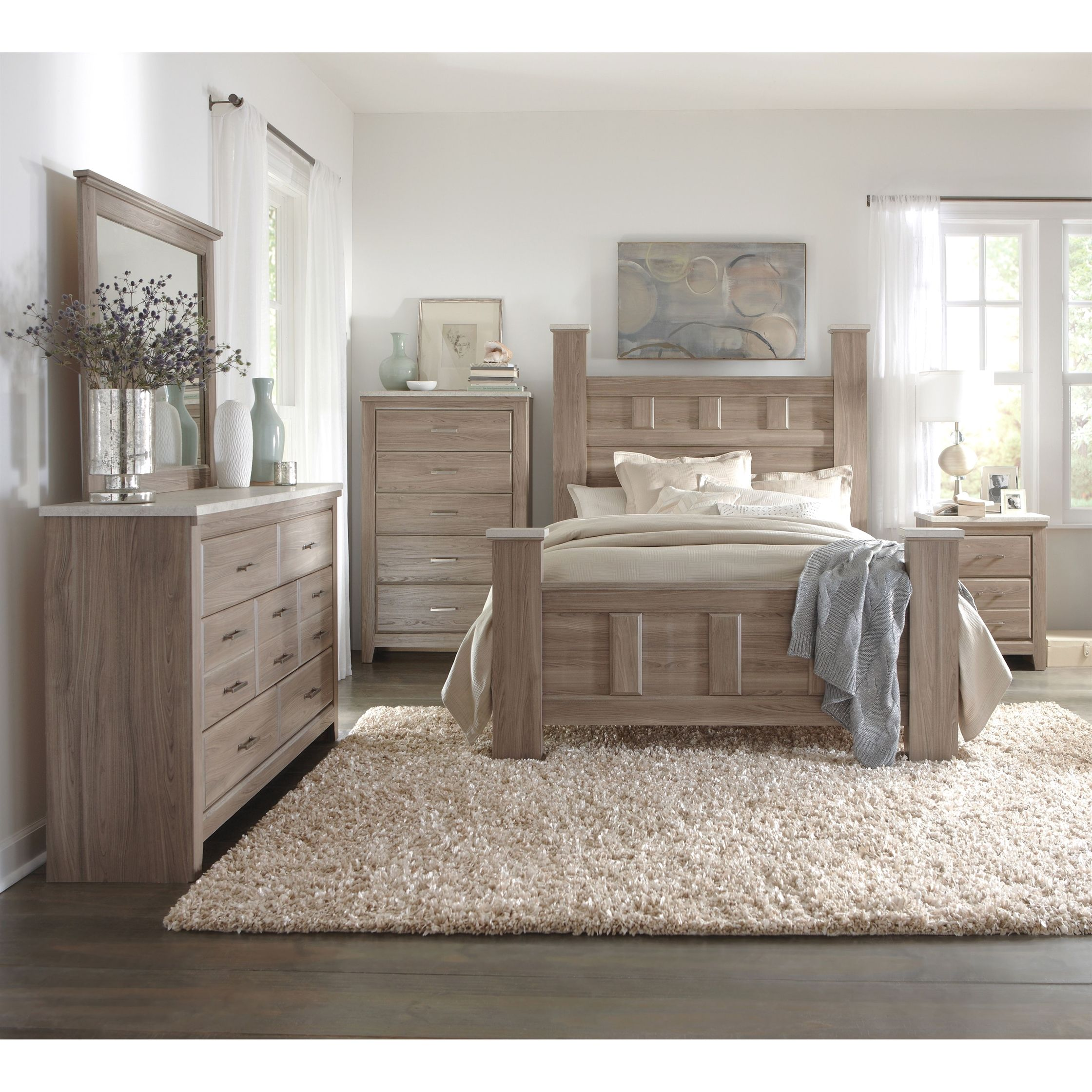 Art Van 6 Piece Queen Bedroom Set Overstock Shopping Big