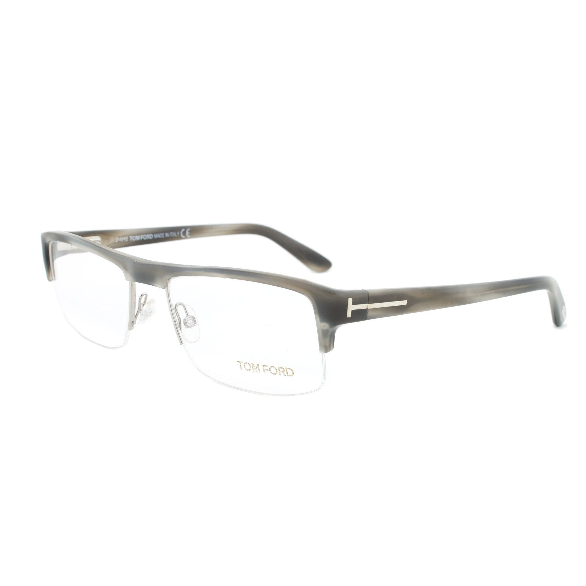 Tom Ford FT5241 060 Horn Rectangular Eyeglass Frames - Size 53 ...