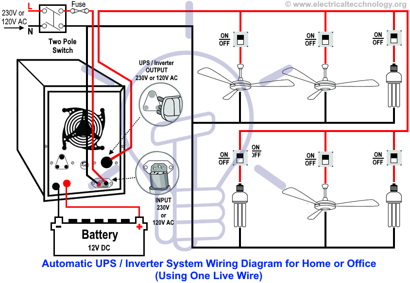 Microtek Inverter Wiring Diagram inverter connection to