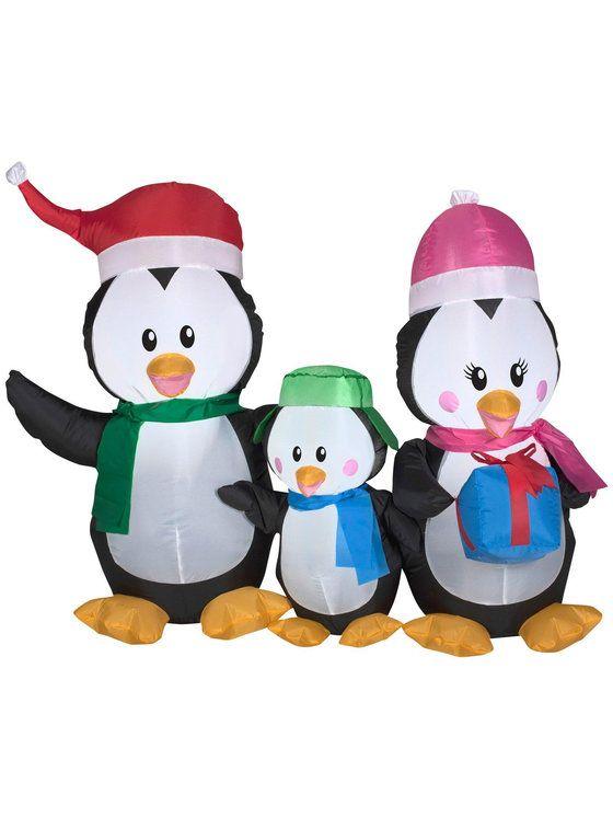 Airblown Penguin Family CHRISTMAS IDEA\u0027S Pinterest Penguins - menards halloween decorations