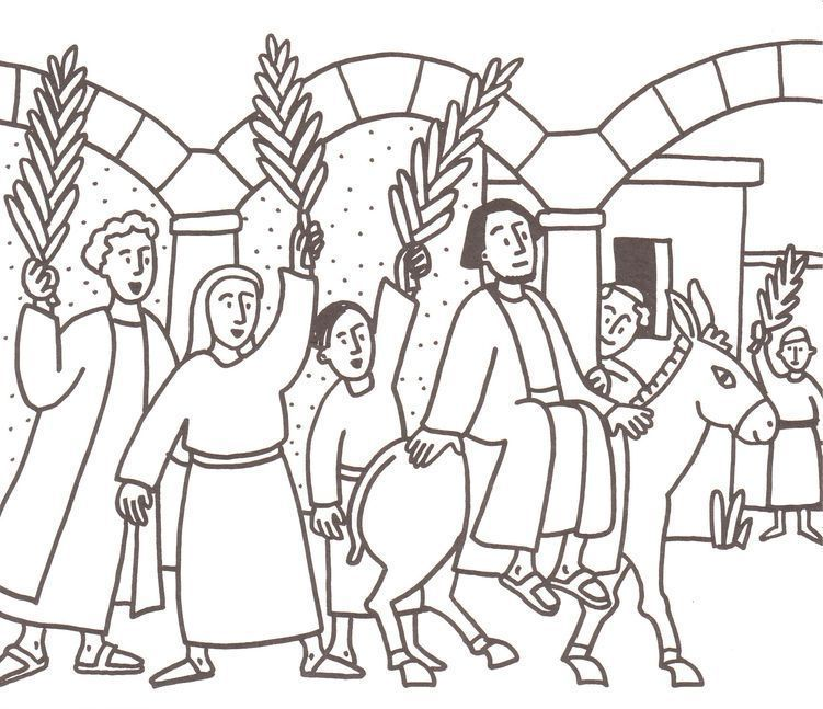 Download Or Print This Amazing Coloring Page Palm Sunday