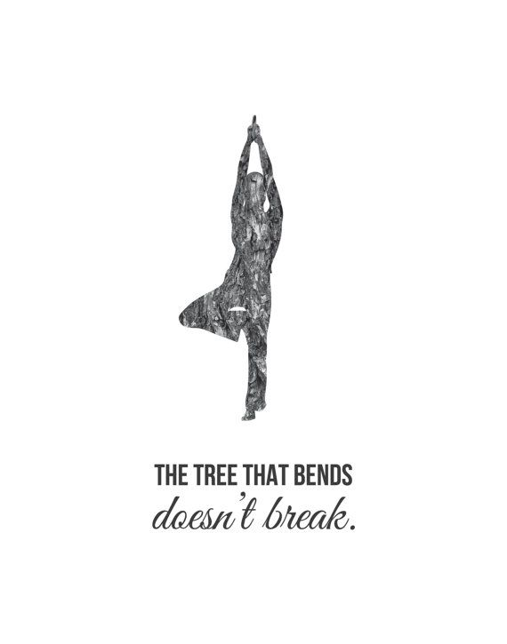 Modern Poster Print Yoga Pose The Tree That by TheOystersPearl