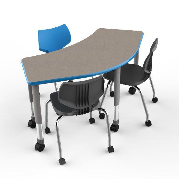 Classroom Design Cooperative Clusters : Interchange crescent table serpentine shape