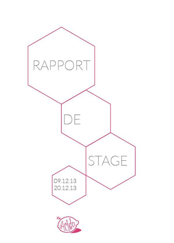 Proposition Couverture D Un Rapport De Stage On Behance