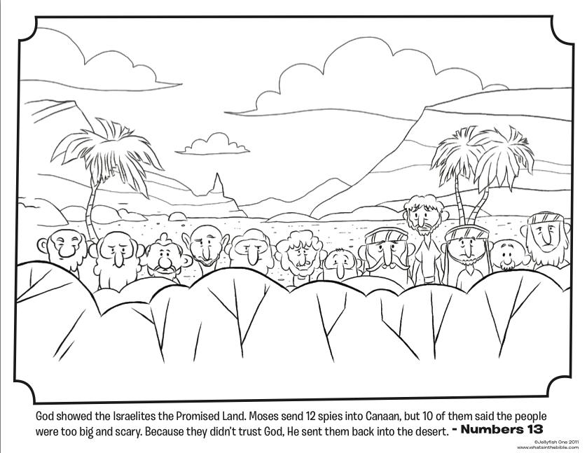 12 Spies - Bible Coloring Pages | Josue | Pinterest | Biblia ...