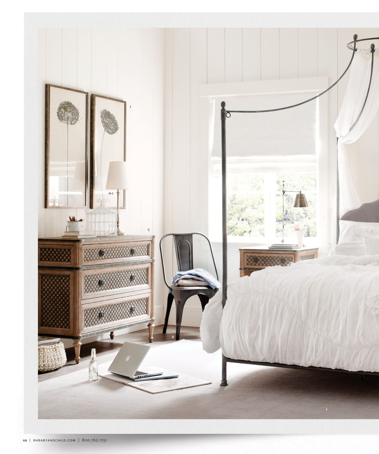 2012 Fall Catalog Restoration Hardware Master bedroom