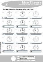 Lire l'heure (CE1 | Lire l heure ce1, Ce1 et Apprendre l heure