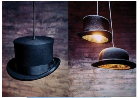 Hat Lamps. So strange and awesome.