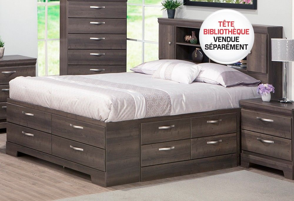 Decouvrez Le Produit Base De Lit 60 Avec Rangement 900839 Disponible Chez Surplus Rd Ca Vaut Le Coup Furniture Storage Bench Bed