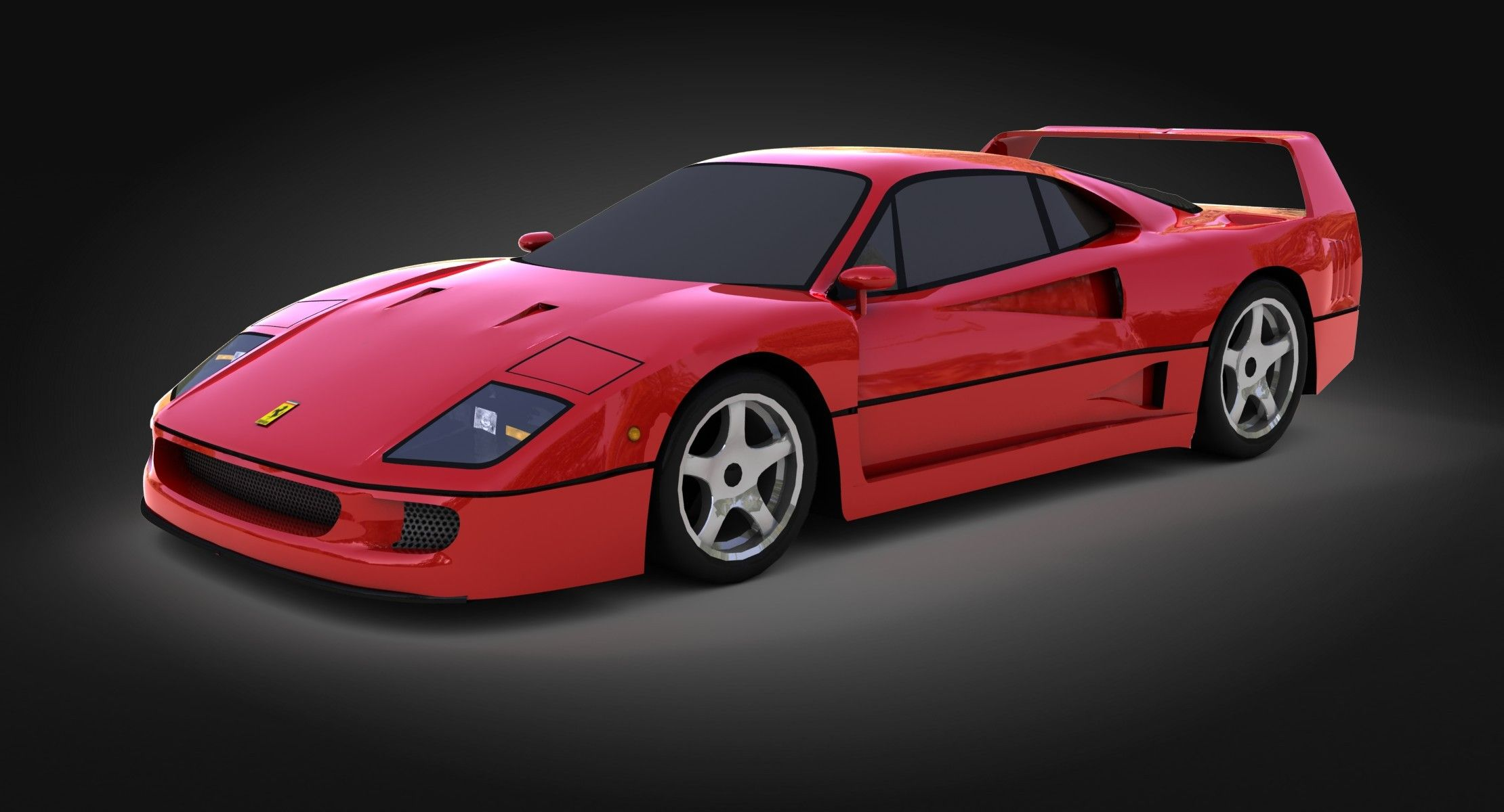 The Last Ferrari Created Under The Great Komendatore Nothing To Add Lowpoly 3dmodel Of The Car Opticaldreamsoft Car 3d Model 3d Model Model
