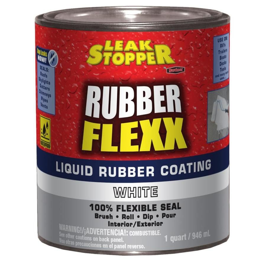 Leak Stopper Rubber Flexx 1 Quart Waterproof Roof Sealant Lowes Com Roof Sealant Liquid Rubber Sealant