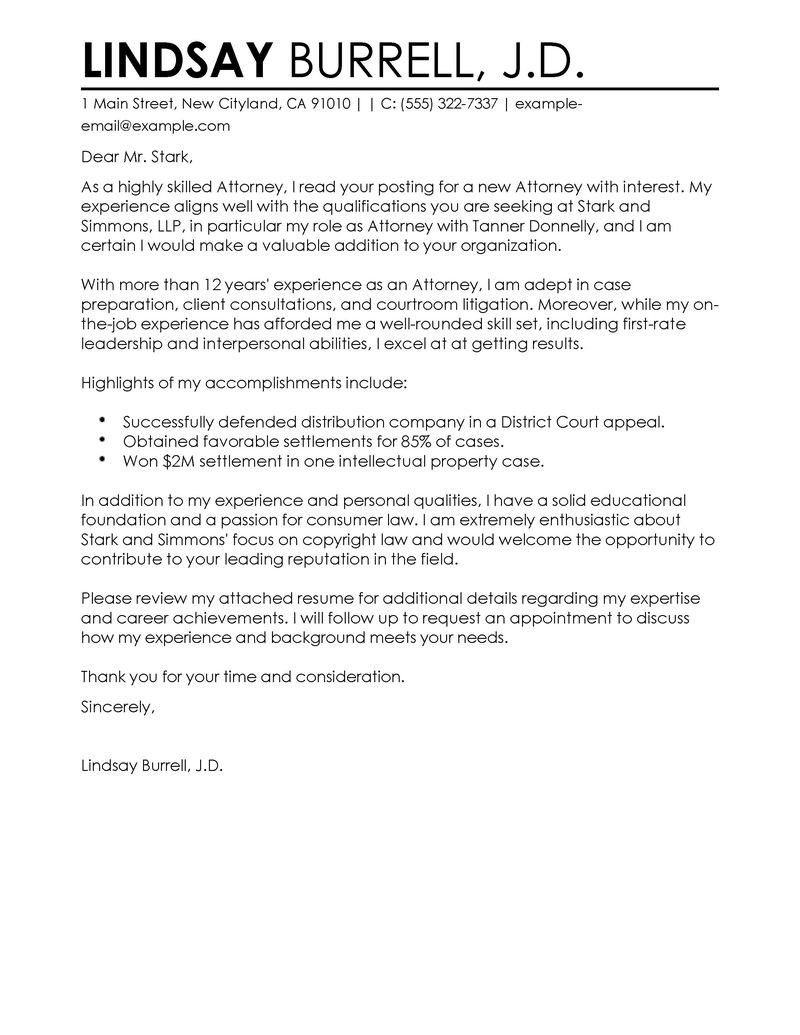 Cover Letter For Law Firm from i.pinimg.com