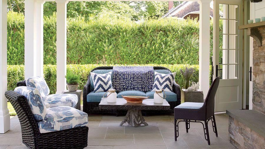 Classic East Hampton Summer House Tour Black Patio Furniture