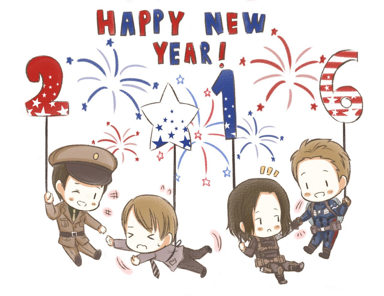 Kuro Lee Nest Bucky And Steve Happy New Year Everyone Anime