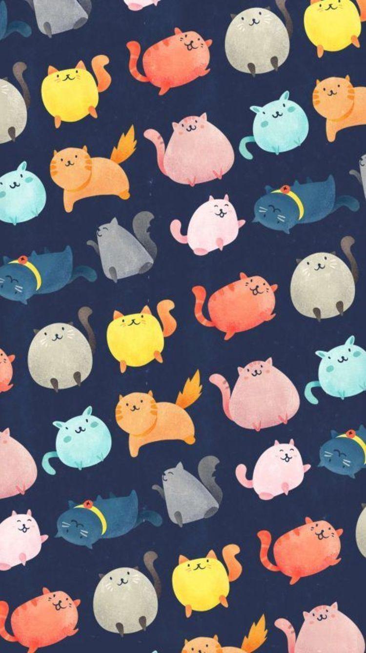 Hd Nature Wallpapers For Android Mobile Full Screen 1080p Cat Pattern Wallpaper Cartoon Wallpaper Cute Cat Wallpaper