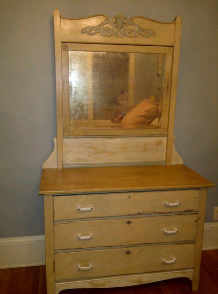 Old Dresser That My Husband Painted For Me I Love To Fix Old Pieces Old Dressers Decor Home Decor