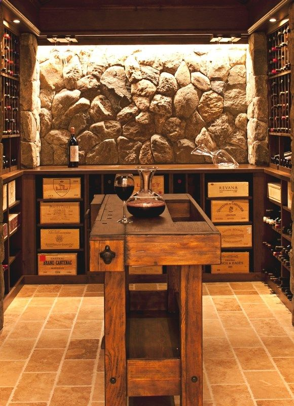 Wine Decanter Magnifique Etabli Converti En Table De Degustation Jadore Szafki Na Wino Stojak Na Wino Wystroj Wnetrz