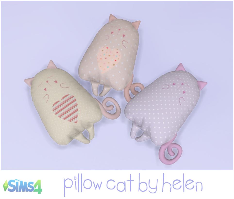 Lana CC Finds - Pillow-Cat