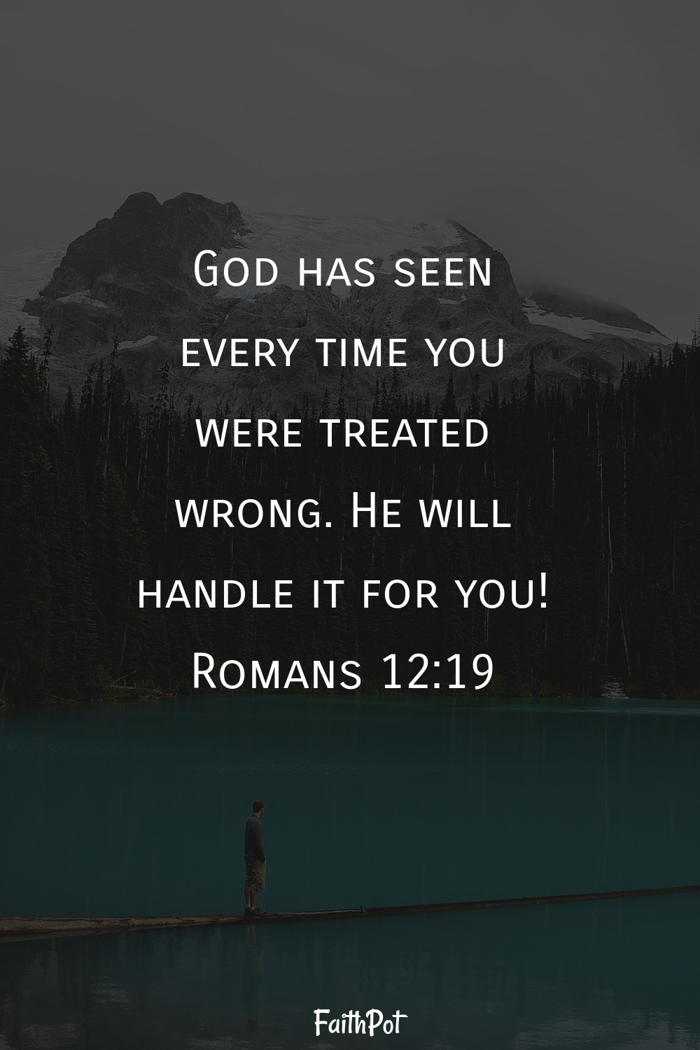 God will handle it for you