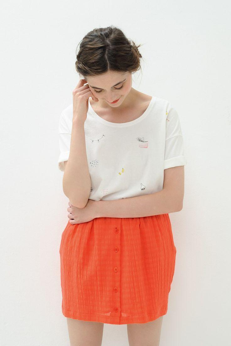 Short Sleeved T-Shirt Trilam White - t-shirt - Des Petits Hauts 1