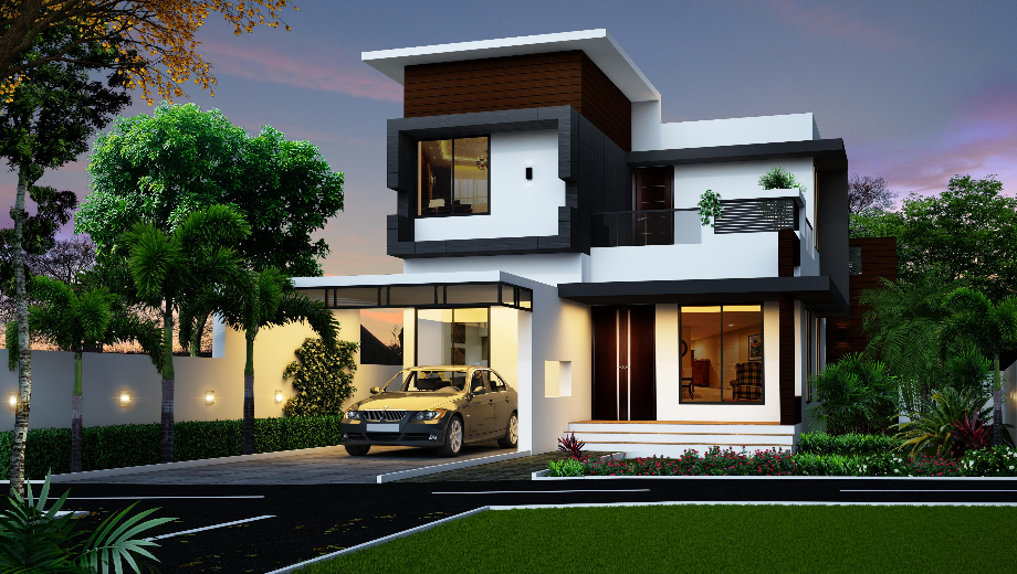 Spectacular Modern House Designed By Khd Modern House Design 2 Storey House Design House Architecture Design