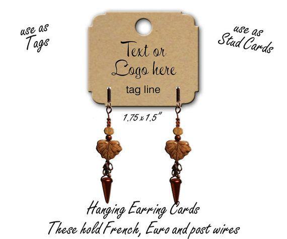 Custom Jewelry Cards Stud Ear Earring By Thehourglstudio