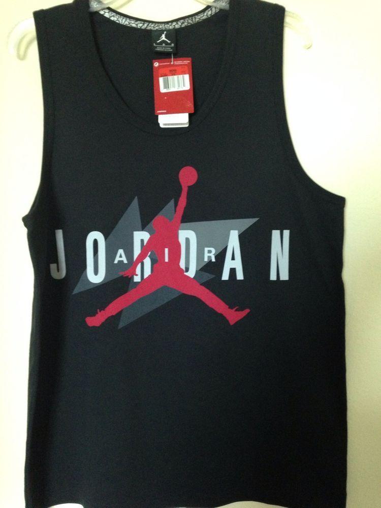 bd94307f0ec Air Jordan Retro 7 Tank Top (622092-010) Sz: Large Carmine/Black #AirJordan  #nike #jordan #jumpman #retro7