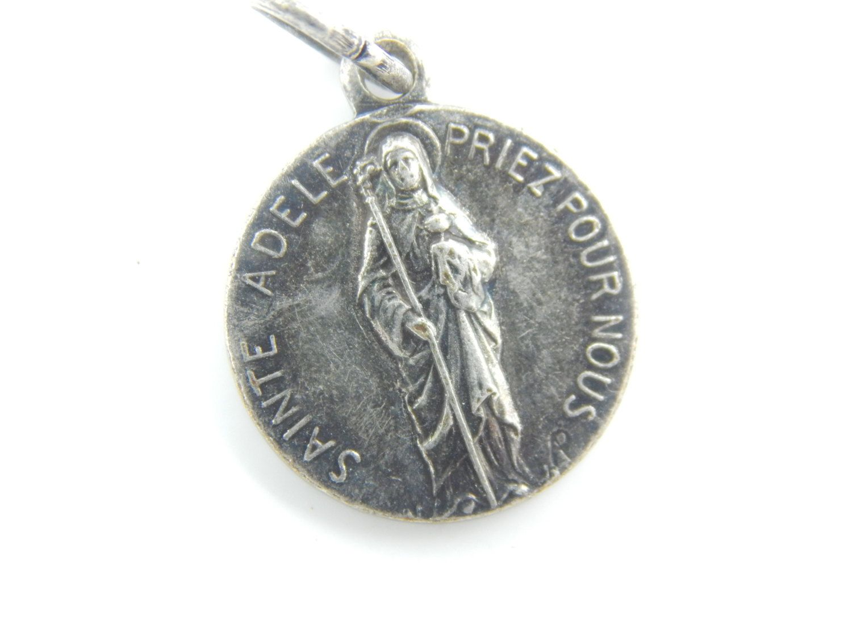 Vintage Saint Adele Catholic Medal - by LuxMeaChristus on Etsy