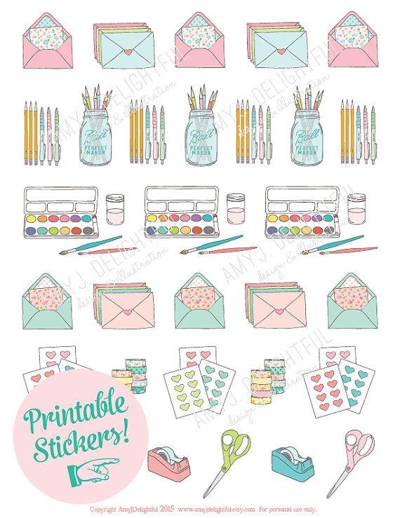Digital Download Planner Clip Art, Planner Stickers Digital Stickers Commercial Clip Art Clip Art Set Planner Girl Clip Art