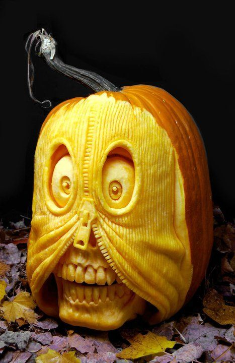 The Coolest Pumpkins Of The Year Realistic 3d Carvings By Ray Villafane Amazing Pumpkin Carving Awesome Pumpkin Carvings Pumpkin Carving