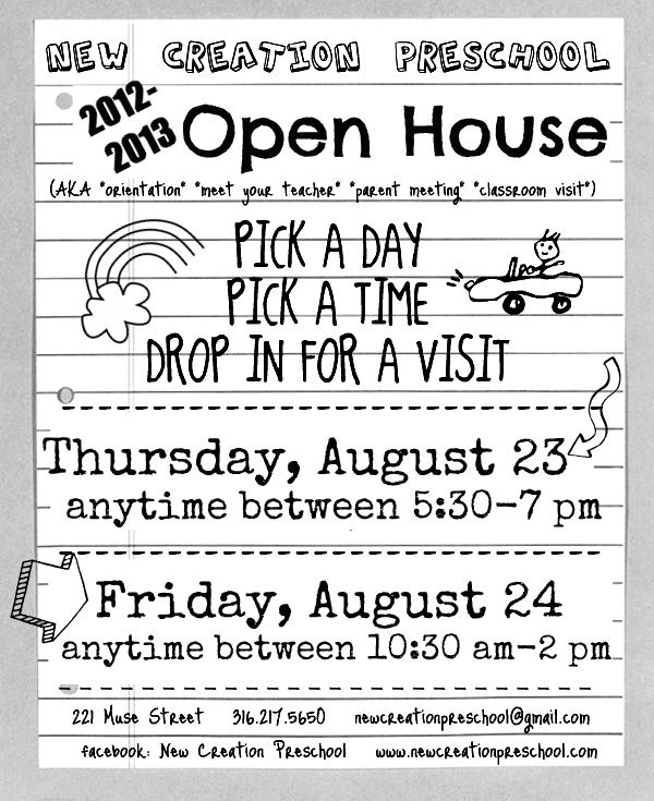 Open House 12 13 School Days Pinterest Open House And School
