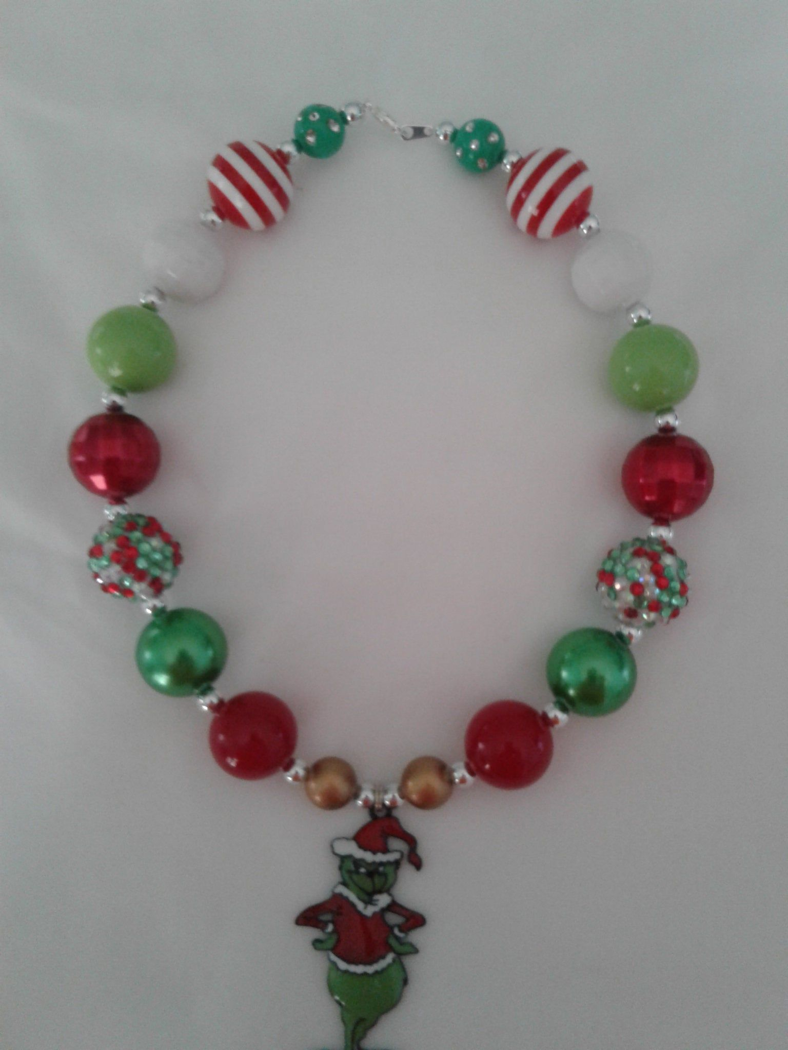 Grinch necklace, Grinch Christmas, Childrens Jewelry