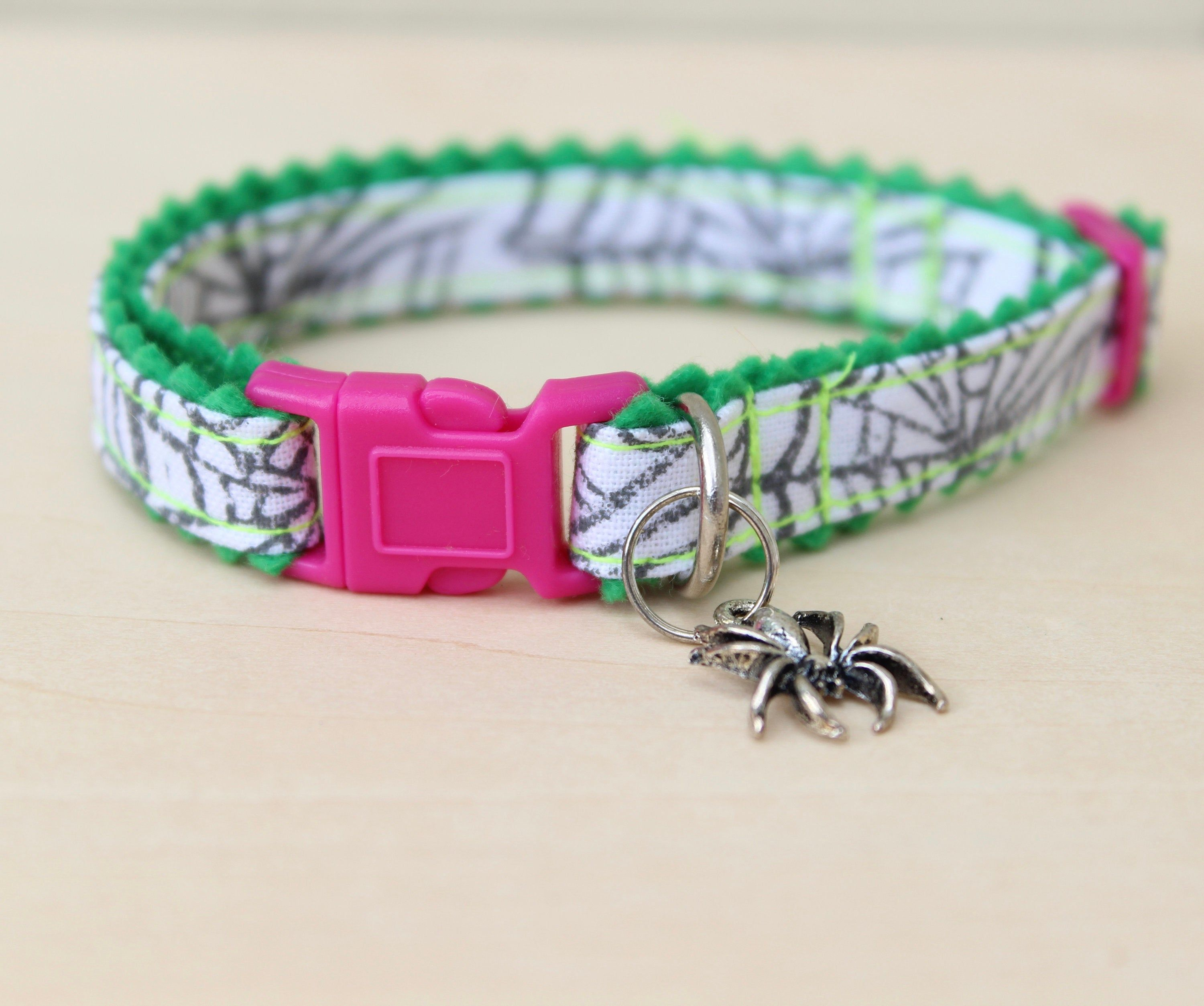 Halloween Spider Web Cat Collar Pink (With images) Cat
