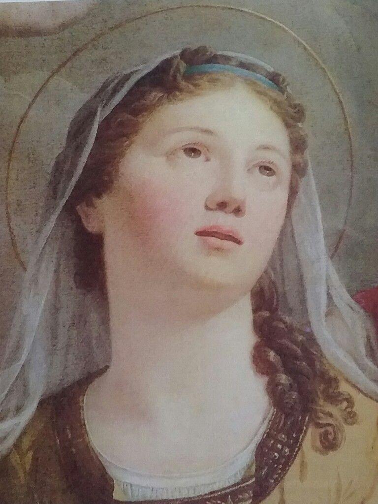 Sant'Agata. Particolare pala altare maggiore. Giuseppe Mazzola