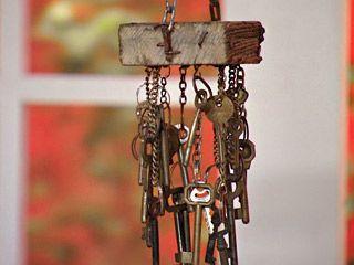 Manualidades y artesan as carill n con llaves antiguas for Manualidades con puertas viejas