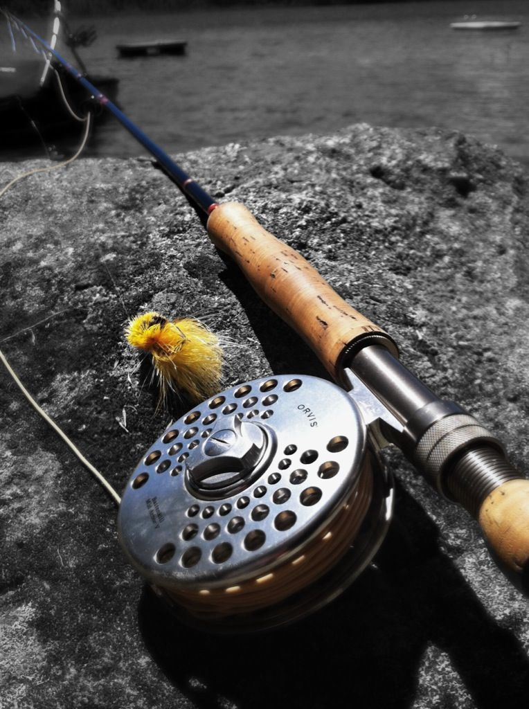 9 7 Weight Fly Rod Built On A Flo Blank With Custom Made Cork Grips Fly Rods Fly Fishing Fish