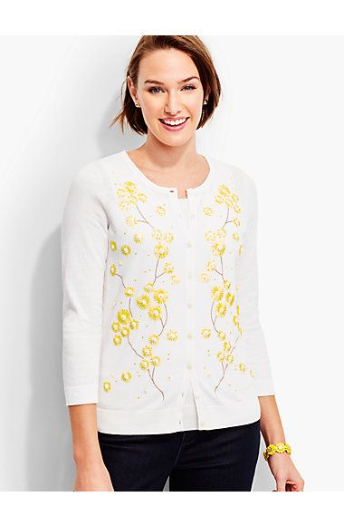 daisy embroidered sweater hdR102