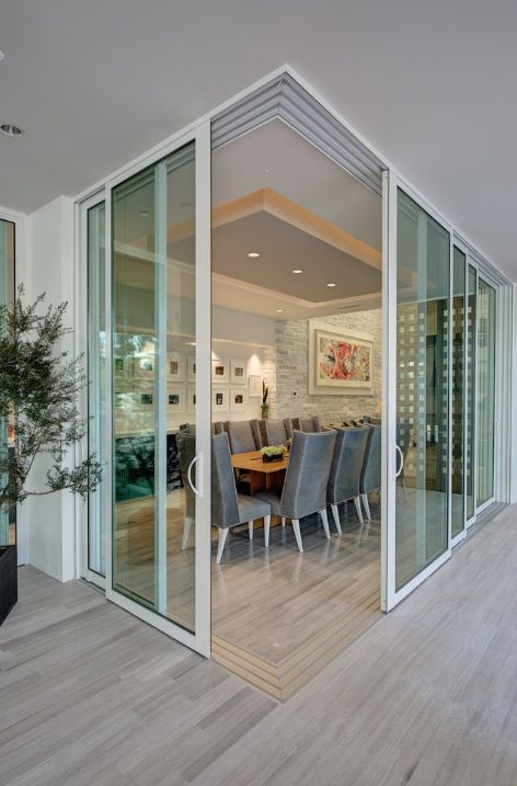 Game Room Sliding Glass Room Dividers Inspirational Gallery: Seamless Transition Between The Interior & Exterior