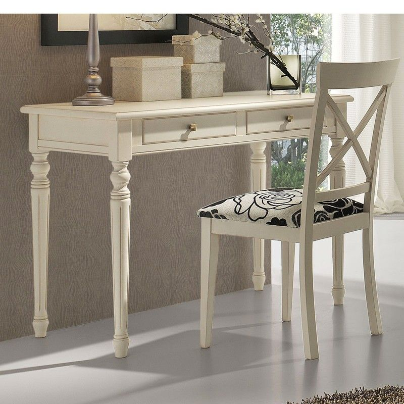 Mesa escritorio madera blanca ideas para el hogar pinterest escritorio madera madera - Mesa escritorio madera ...
