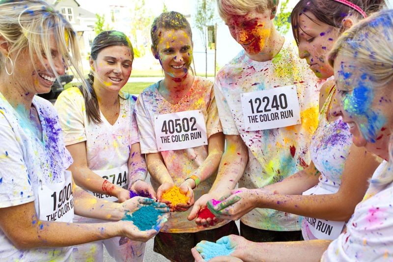 The Color Run in 18 cities next year- anyone want to go with????