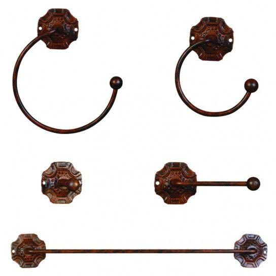 Conjunto accesorios baño medieval | Accesorios baño ...