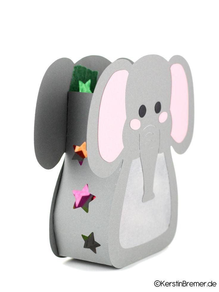 Ebook / Bastelanleitung Elefant Sterne Laterne #laternebastelnkinder