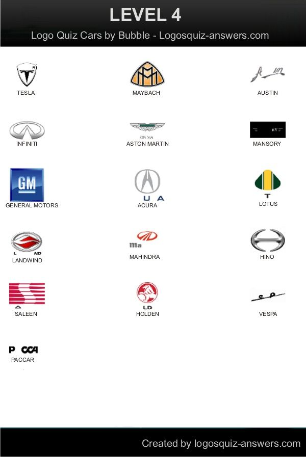 cars logo quiz for android level 4 answers  tesla  maybach