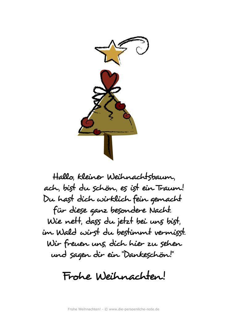 Adventskalender 2014: Kostenlose Weihnachtskarte / Weihnachtsgedicht für Kinder (Hallo, kleiner Weihnachtsbaum)