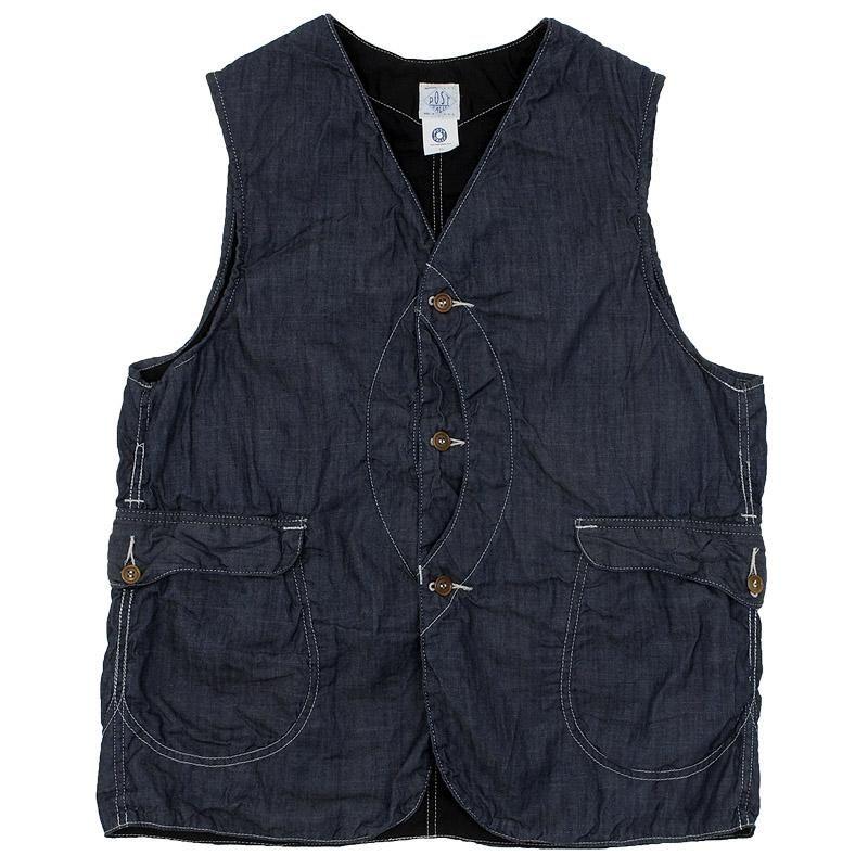Post O'Alls Royal Traveller Vest (Indigo 5oz Denim) | Casual