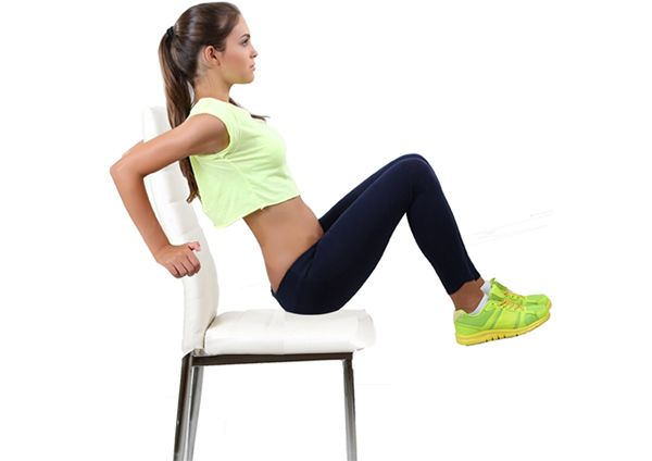 chair exercises for a flat stomach